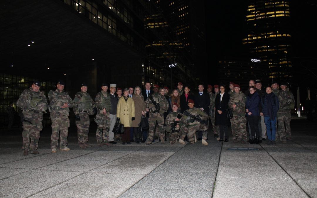 Rencontre avec des militaires du Groupement Ouest Parisien déployés dans le cadre de la mission Sentinelle
