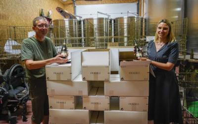 Vente d'une palette de vin BONNEZEAUX à Hong-Kong.