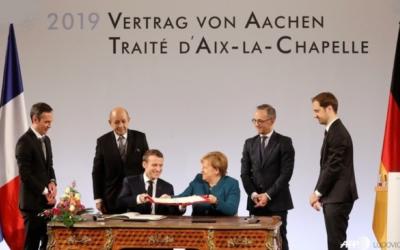 Traité d'Aix-la-Chapelle, un honneur de conduire à sa ratification.
