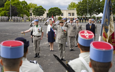 Passation de commandement du 2ème régiment de Dragons deFontevraud-l'Abbaye