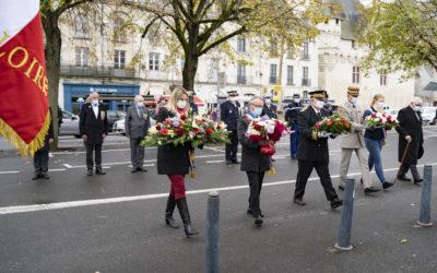 Cérémonie du 11 novembre 2020, à Saumur