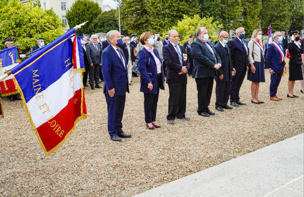 Journée nationale d'hommage aux harkis, à Saumur.