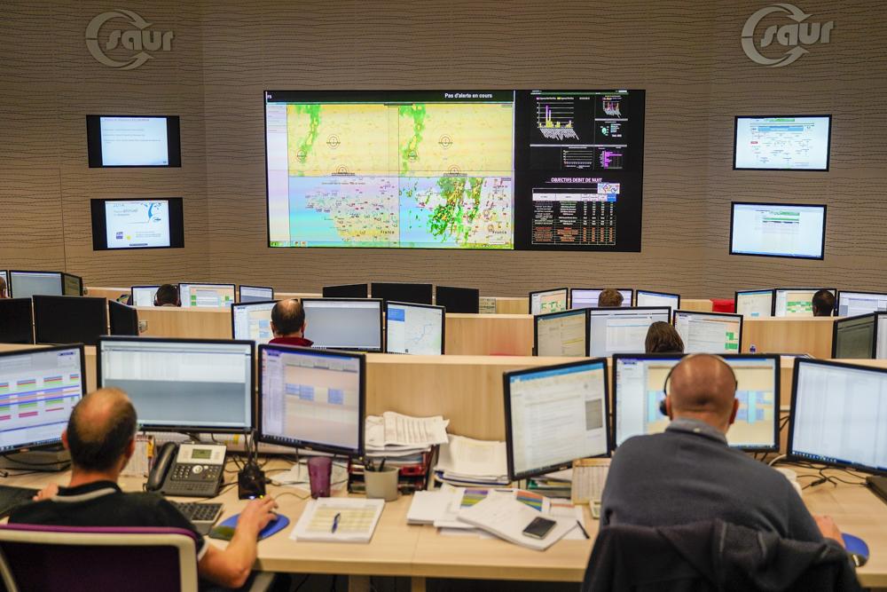 Visite du Centre de Pilotage Opérationnel de la SAUR