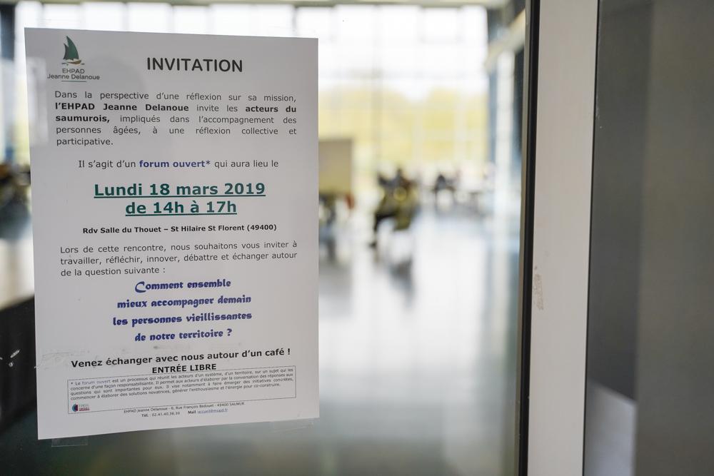 Forum de réflexion sur le projet d'établissement de l'EHPAD Jeanne Delanoue de Saumur