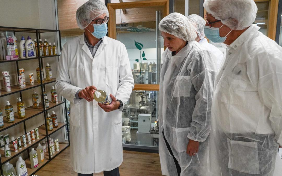 Visite de l'entreprise ALVEND Laboratoire, à Somloire