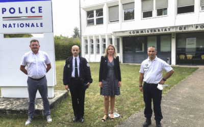 « Beauvau de la sécurité », visite au commissariat de Police de Saumur.