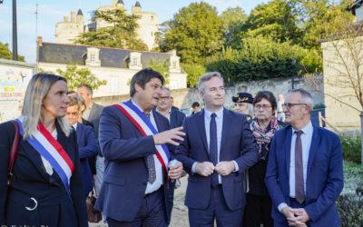 Jean-Baptiste Lemoyne, Secrétaire d'État en charge du tourisme, à Montreuil-Bellay